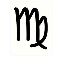 Virgo - The Virgin - Astrology Sign Art Print