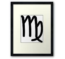 Virgo - The Virgin - Astrology Sign Framed Print