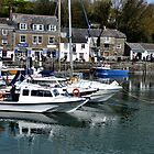Boats At  Padstow Harbour Cornwall UK by lynn carter