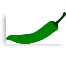 Green Chili Pepper Canvas Print