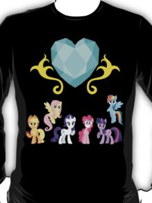 Crystal Heart 'N' Mane 6 T-Shirt