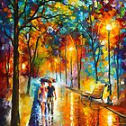 UNDER THE UMBRELLA by Leonid  Afremov