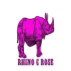 Rhinoceros, Rhino C Rose  by eclecticart