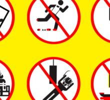 Prohibited Movies Sticker