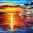 MISSISSIPPI SUNSET by Leonid  Afremov