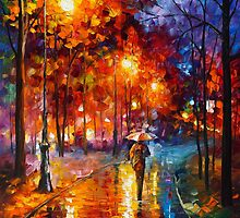 ALONE AT THE PARK by Leonid  Afremov