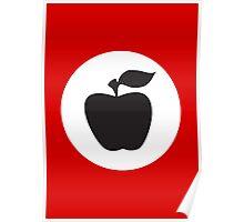 German Apple Front (Front Deutscher Äpfel) Poster