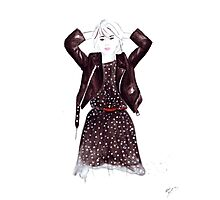 Polka Dot Dress Photographic Print