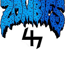 Flatbush ZOMBiES Logo x 47 / BLUE by Ben McCarthy