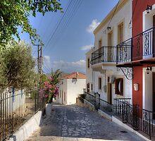 The main road in Nimborio by Tom Gomez