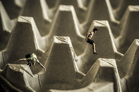 Eggcrate Parkour by Randy Turnbow
