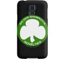Silver Shamrock Novelties (SSN) Shirt - Traditional White Shamrock Design Samsung Galaxy Case/Skin