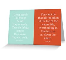 Be Brave: Tina and Amy Greeting Card