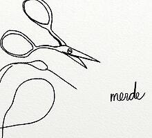 Needle, thread, scissors, merde by Adult Beginner