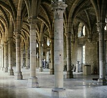 C13 Refectory Benedictine Abbey Dijon France 198404300023 by Fred Mitchell