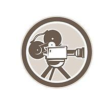 Film Movie Camera Vintage Circle Retro by patrimonio