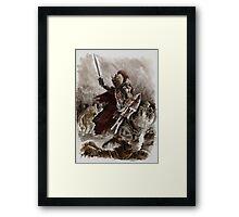 Dark Crusader Medieval Knight Templars warrior  Framed Print