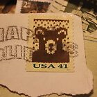 Bear Postage by aprilann