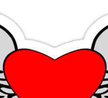 Feathered Wings and Heart Sticker