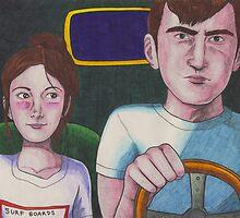 Kids In Cars by Cloverswine