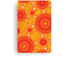 Pop! Orange & Bright Orange Canvas Print