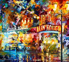 MOULIN ROUGE by Leonid  Afremov