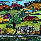 A Naive Appenzellerland, Switzerland Landscape by Monica Engeler