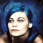 portrait in blue by annacuypers