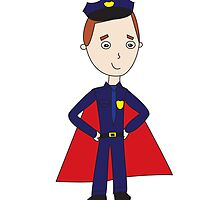 Police Officers Are Super Heroes by ValeriesGallery