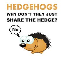 Hedgehog Share The Hedge? No by AmazingMart