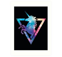 Galaxy Unicorn  Art Print