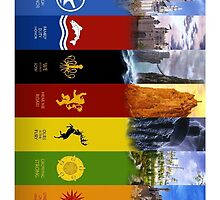 Game of Thrones Houses by Kris Armitage