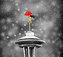 Seattle Snow by KayWanderer