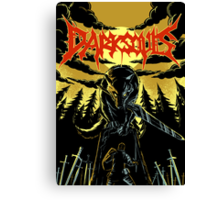 Unofficial Dark Souls Metal Band Poster Canvas Print