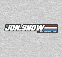 Jon Snow - A real winterfell hero. GI Joe logo parody. by 1to7