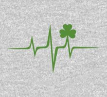 Music Pulse Irish, Frequency, Wave, Sound, Shamrock Kids Clothes