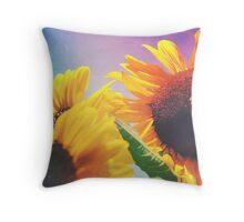 Summer Sunshine Day Throw Pillow