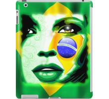 Brazil Flag Girl Portrait iPad Case/Skin