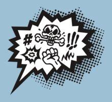 COMIC Curses, Skull, Speech Bubble, Comic Book Explosion, Cartoon Kids Clothes