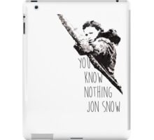 """You know nothing, Jon Snow."" *Ygritte version* iPad Case/Skin"