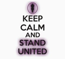 KEEP CALM AND STAND UNITED BLACK No Image by Derek Mitchell