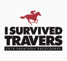 Awesome 'I Survived Travers' 2014 Saratoga Springs T-Shirt by Albany Retro