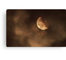 Blood moon 2014 last stage Canvas Print
