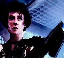 "Sigourney Weaver. In the movie ""Aliens""  by Jesús Torrado Toro"
