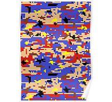 8-bit Digital Camo (Mario) Poster