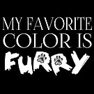 My Favorite Color Is... (Furry) in White by Zhivago
