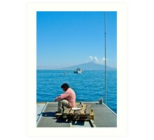 Contemplating Vesuvio Art Print
