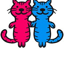 2 couples cats love by Style-O-Mat