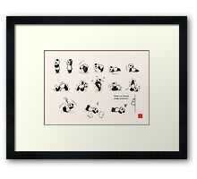 That's a Funny Yoga Position Framed Print