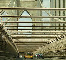 Crossing Brooklyn Bridge by Keith Thomson